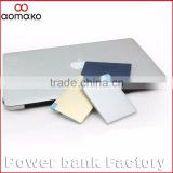 PA-104,2016 hot selling ultra slim polymer credit card power bank 4000mah with aluminium alloy