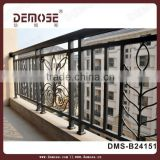 wrought iron balcony balustrade and fence post