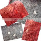 red nigerian dress fabric african lace fabrics cord french tulle lace with 3d embroidered design