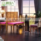 New Design Classical Solid Wood Corner Dining Breakfast Set Cafeteria Table Bench Chair Booth