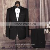 latest pattern Trendy italian Style Wholesale Bespoke Tailor Formal black grey man Two Pieces Business Suits For Mens