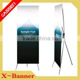 Indoor Advertising Display Folded Elastic Plastic Pole Korean Style X Banner