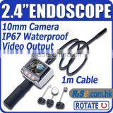 2.4 LCD Video Pipe waterproof TV output Borescope Endoscope Inspection Camera
