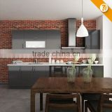 7 Days Delivery China High Gloss Modern Black Kitchen Cabinet