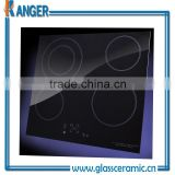 square oven lamp ceramization glass factory in china