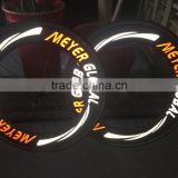 MeyerGlobal Reflective logo high profile wheelset 700C Chinese 88mm clincher road bike frame carbon wheels exclude tire and gear