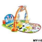 Baby Play Gym Mat with Pedal Piano baby crawl play mat with piano musical baby play mat piano kick