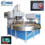 HR-15KW-4AC full automatic rotary high frequency welding and cutting machine with robot