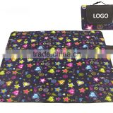 New Promotional Star Pattern Picnic Mat Camping Mat 100% Polyester Fleece Waterproof Picnic