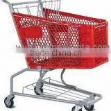 Plastic Hand trolley,plastic box cart,any color