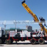 600M 8X4 Truck mounted hydraulic rotary water drilling rig with generator,hydraulic winch on board