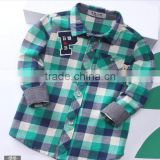 Children clothing kids fashion plaid name brand boys top shirts design