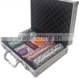 clay poker game set domino game set travel poker set in straight corner aluminum case
