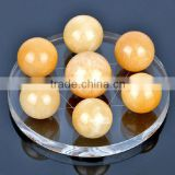 7 Natural Citrine Crystal Balls on Star of David, fengshui crystal ball with different size