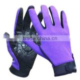 2016 safety sport gym glove with non slip adhesive nylon and leather cut resistant gloves wholesale products china