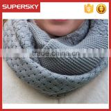 A-822 winter handmade cowl crochet scarf custom knit chunky loop scarf crochet circle cowl neck warmer