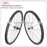 OEM bicycle carbon clincher wheelsets 30mm 23mm racing bike parts 700C full carbon fiber road wheelsets UD matte