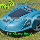 Smartphone App Control Robot Grass Cutter/programmable parts for brush cutter with Water-proofed charger