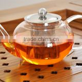 800ml Borosilicate Glass Tea Pot With Stainless Steel Strainer Glassware PA15001
