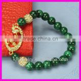 Hot! KJL-BR0828 Fashion Amazing malachite bead stretch bracelet, Jewelry Muslim Allah Bracelet