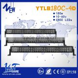 Factory outlet! flood portable led battery work Y&T 4D light bar 180w high performance with competitive price