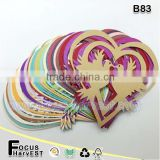 B83 Laser Cut Heart Paper Place Card Wedding Wine Glass Party                                                                         Quality Choice