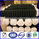 Directly factory Used Black Green Vinyl Coated Black Chain Link Fence