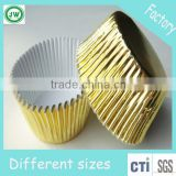 Wholesale Gold foil cupcake liners paper muffin cup case mold wrapper for Wedding Birthday party