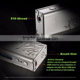best selling hot chinese products TC 50W e Cig device e cigarette box MOD 18650 case 510 connector