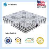 thicken and hardened compressed foam witj 6 turns stainless spring and imported knitting fabric mattress