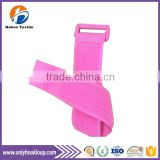 Elastic hook and loop cable tie, double sided hook loop cable tie, reusable plastic cable tie