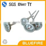 Tinplate screw valve cap for butane gas can