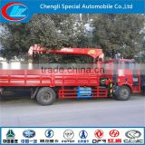 Best configuration mounted crane high performance lift truck FAW 4x2 overhead mobile crane