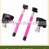 selfie stick with shutter button with charge free, No Bluetooth matching of selfie monopod.