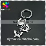 butterfly metal custom keychain