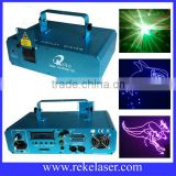 Reke 1w rgb full color ilda programmable laser light with 2g sd card