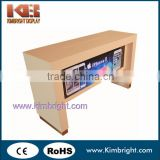 Wooden metal cell phone display cabinet, mobile display showcase, cell phone retail display stand