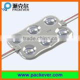 2016 new hot 5 years warranty SMD 2835 6 chips injection LED module for outdoor LED signs