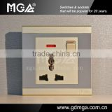 16A universal electrical wall outlet / multi-function socket / universal wall outlet