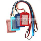 Various colors embossed logo employee's card holder student's indentity card holder
