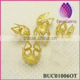 Wholesale Prong Bell Brass Bead Caps DIY Jewelry Findings