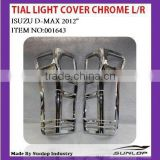 for d- max spare parts tail light cover chrome #001643 for d-max
