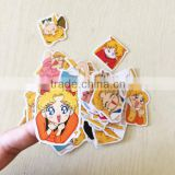 Wholesale cute japanese cartoon character stickers /sailor moon stickers for bagage or book