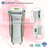 2014 Christmas Promotion New Vacuum 2 handpieces can work together Cryolipolysis Machine