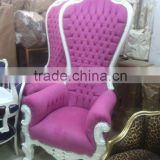 White baroque pink armchair