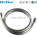 Doflex 2015 new fashion 59 inches(1.5m meter) 5 layer extra thicker silver bathroom PVC shower hose