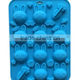 Rabbit Carrot Silicone Chocolate Candy Cookie Soap Mold Fun Maker