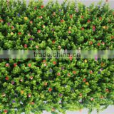 colorful artificail Eucalyptus grass mat green foliage plants with flowers