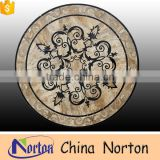 Norton yellow mixed with black round marble medallion tile lowes for sale NTMS-MM017L