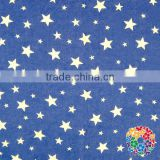 Boutique blue white star printed cotton fabric wholesale 4th of july cloth fabric